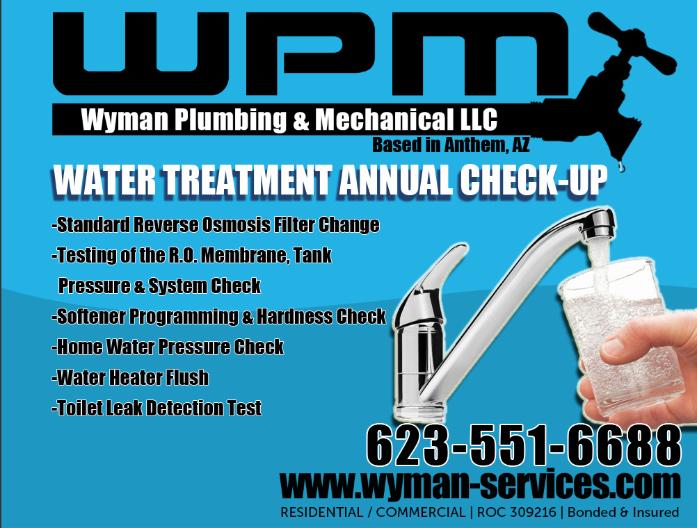 Water Treatment Check-Up Ad by Wyman Plumbing Company