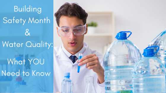 Building Safety Month and Water Quality: What You Need to Know, an Arizona man testing water and Wyman Plumbing can help improve your water quality.